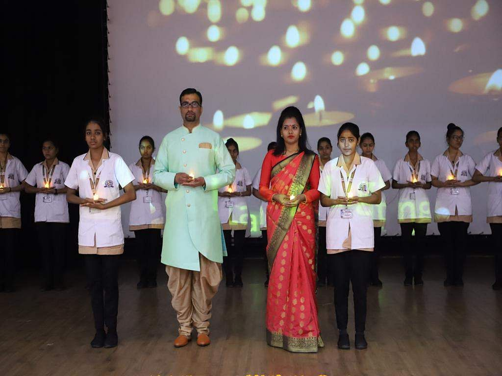 Lamp lighting ceremony at Parul University