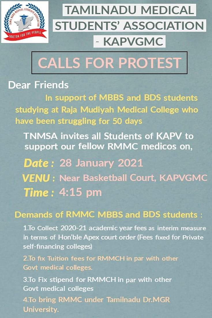 calls for protest
