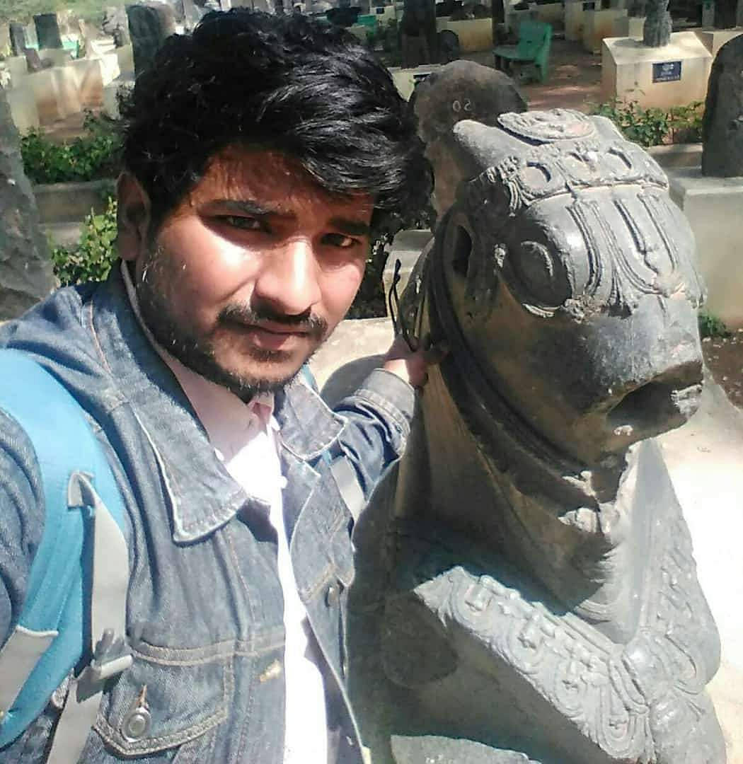 Younus Farhaan with the Nandi