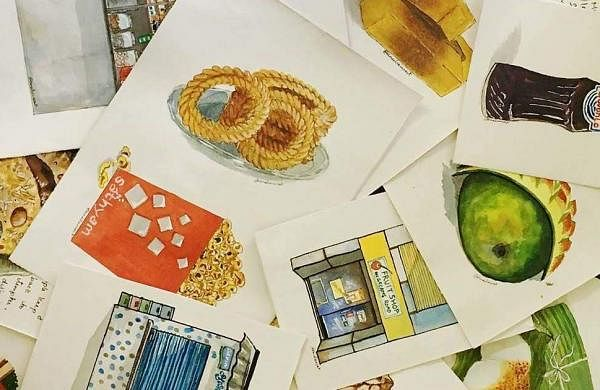 Her art conveys her nostalgia on paper and includes several popular as well as little known places that do the same job; cater to Chennai's spirit | Chitra Iyer