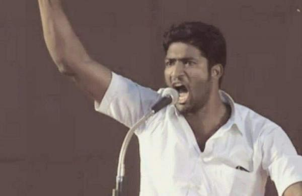 T David Raj is a one-man army and has been protesting for the ban of liquor at Jantar Mantar for about six months now