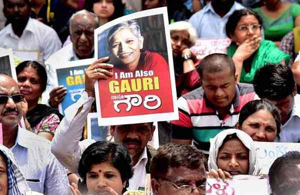 A demonstration in honour of Gauri Lankesh