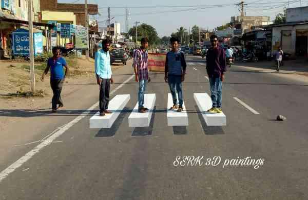 Krishna's 3D zebra crossing