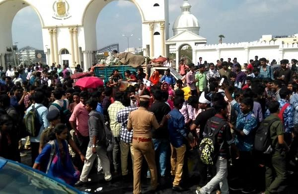 Protests at Sathyabama University are not a novelty   File Photo