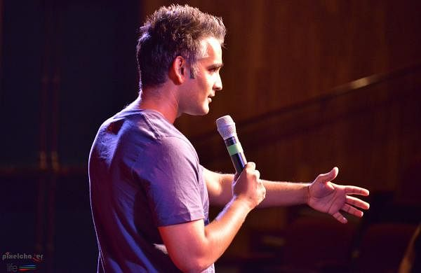 7 and a half years ago, Sanjay began doing stand-up comedy