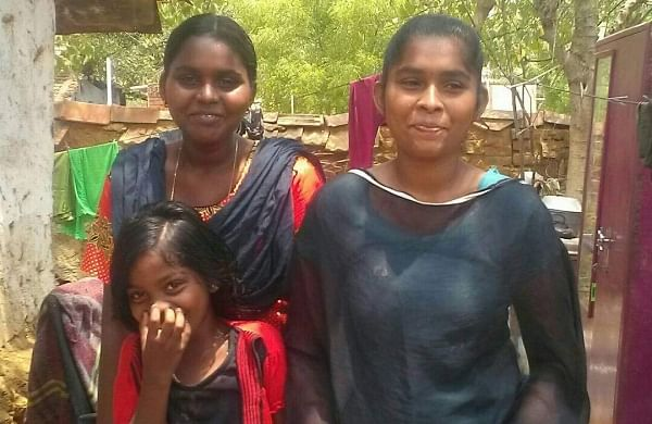 Anandha Jothi with her sisters