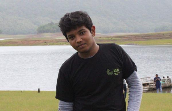 Chaitanyan Prakash, the Goethe-Zentrum scholarship winner
