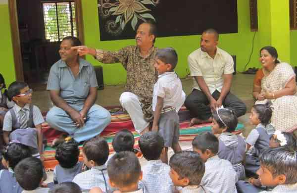 SP Udayakumar says that Gnani Sankaran was agreat stroy-teller, always popular with children.