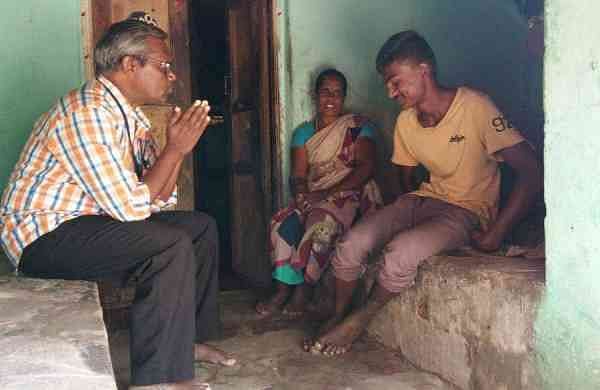 G Balu takes a trip around the village to meet his students and their families to have a heat-to-heart with them