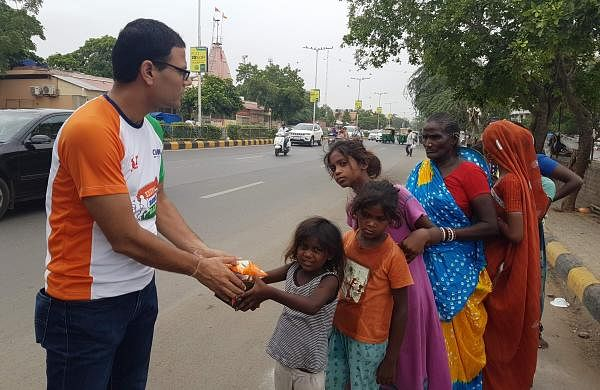 They have covered five cities till now including Kerala during the floods, where they distributed meals from the calories collected during the run