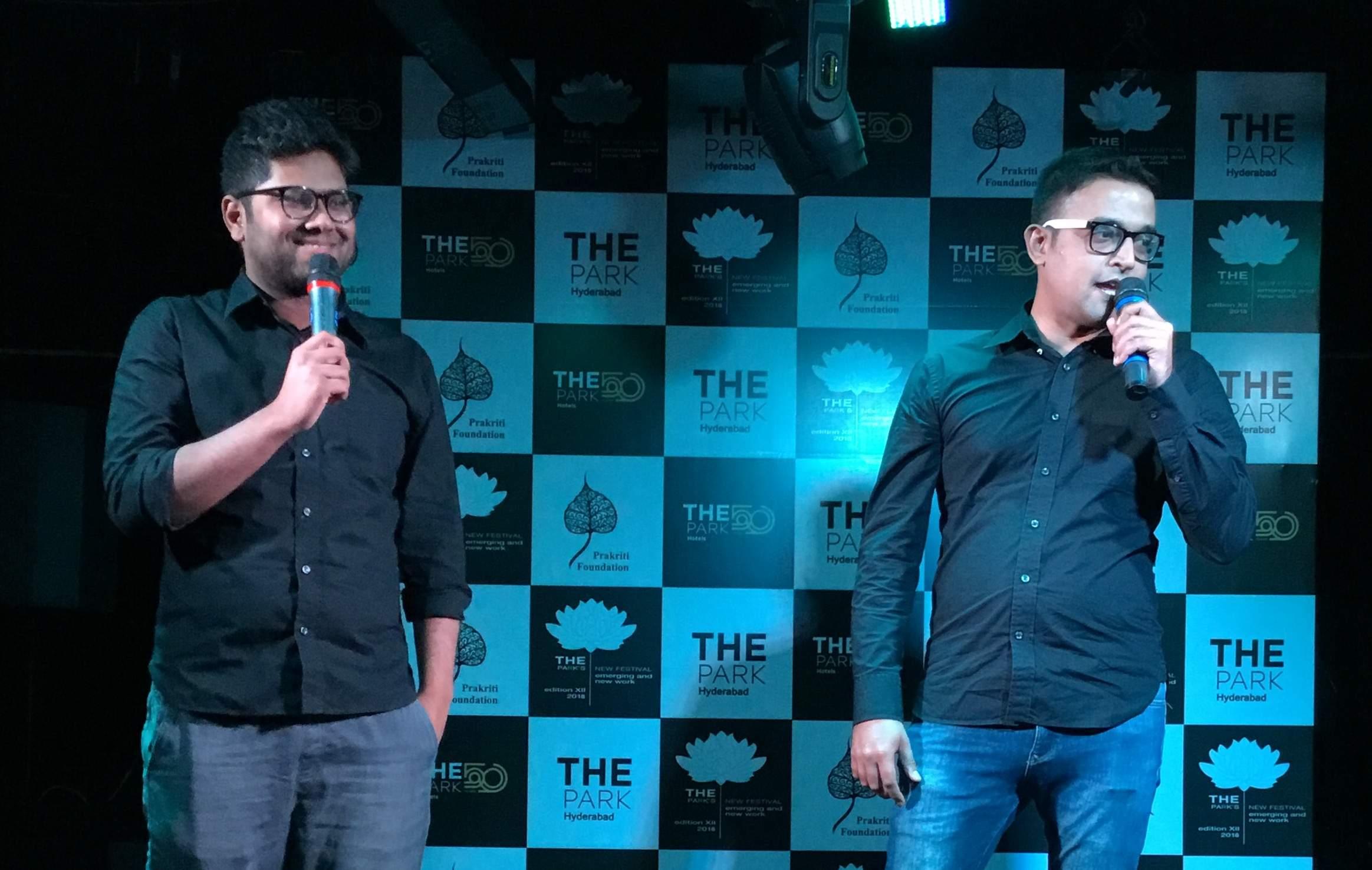 Comedians Rajiv Rajaram & Utsav Chakraborty
