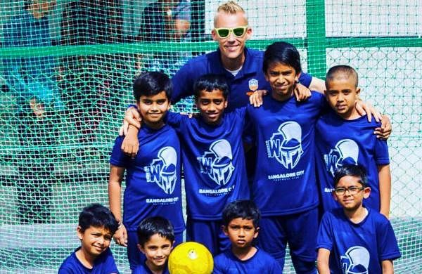 The football club is open to kids from all backgrounds