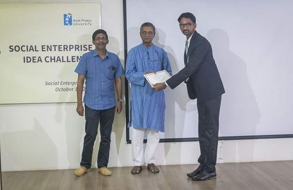 Jitendra's invention recently won first place at the National Social Enterprise Idea Challenge held at Azim Premji University at Bengaluru