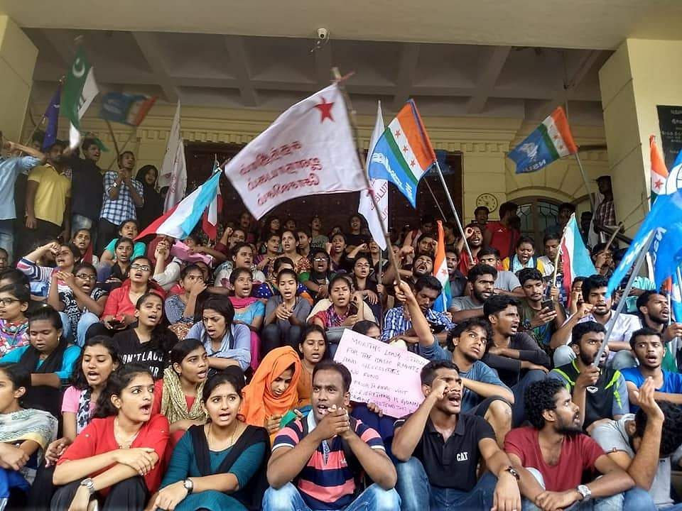 Pondicherry University student strike news