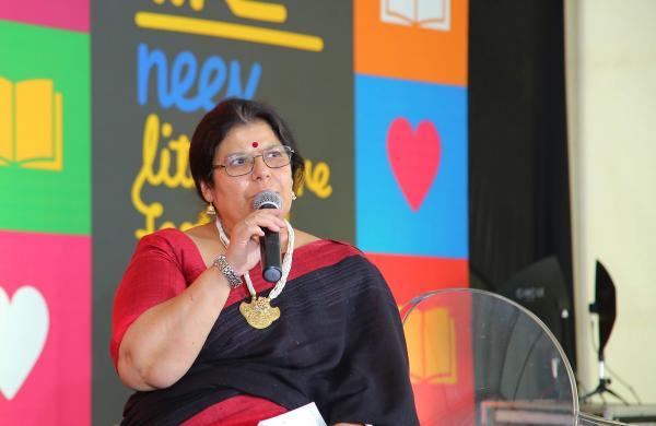 Author Paro Anand at the Neev Literature Festival