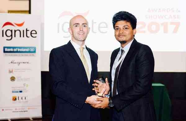 Kaushik was one of the ten entrepreneurs to be offered a place in the Ignite Programme at University College Cork in 2016