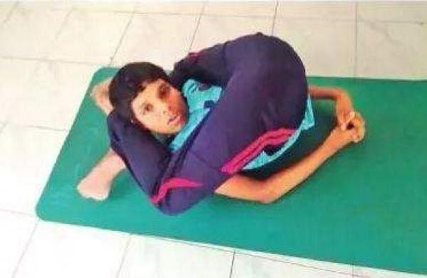 Compared to other autistic children, he can perform asanas with much ease