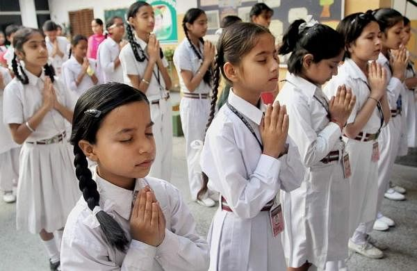 Schoolchildren-pray-for-early-release-of-former-Indian-naval-commander-Kulbhushan-Jadhav