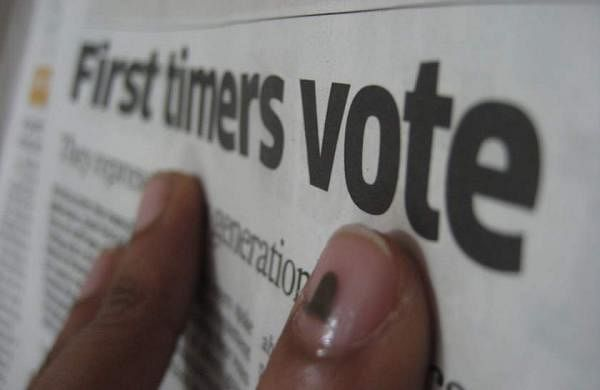 The FB page YoungIndian is encourage the youth to vote | AFP