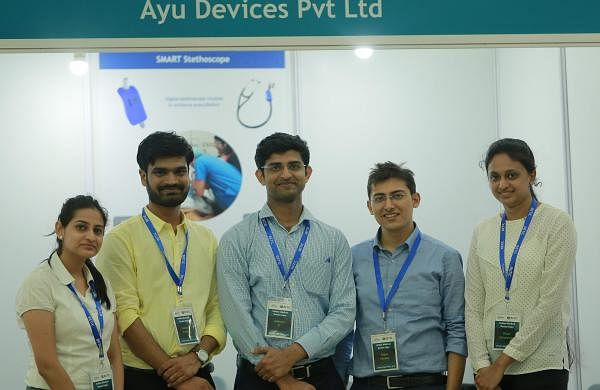 AyuLynk is a device which can be attached to a conventional stethoscope to make it a digital stethoscope