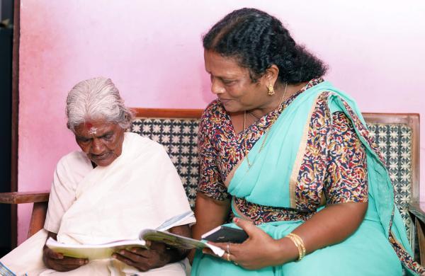 Karthiyani Amma is preparing to write her 4th standard exam on July 22