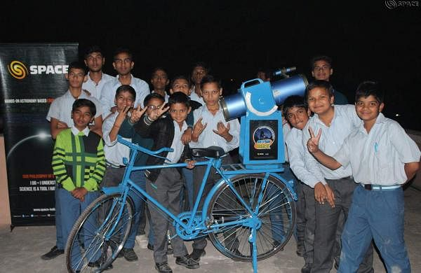 Space Foundation regularly holds night observation  programme for kids where they are briefed about various aspects of the sky