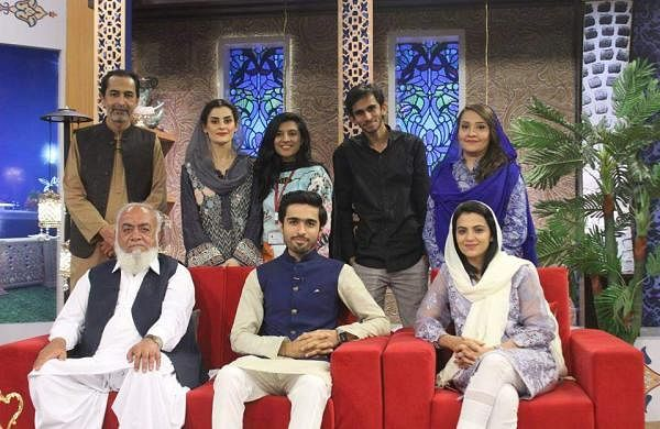 Team Actcept with TV show anchors and other guests
