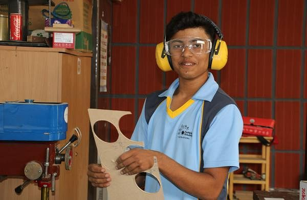 Vivek K N started taking an interest in making wooden toys when he was 11 years old