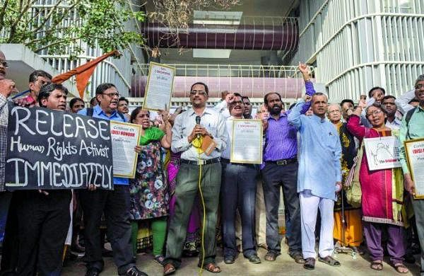 The activists were arrested under IPC Section 153 (A), which relates to promoting enmity between different groups on grounds of religion, race, place of birth, residence, language and committing acts