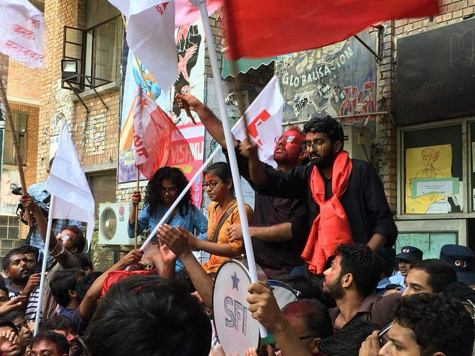 JNU Student Union election won by the Left