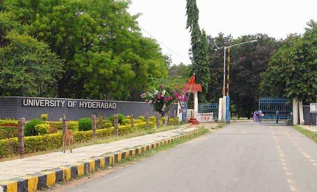 University of Hyderabad entrance exam fees