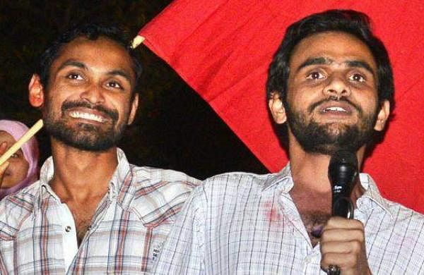 JNU student Umar and Anirban