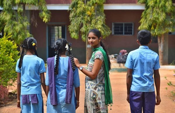 Tulsi Bai has been working for three years to enrol children in government schools (Pic: Pushkar V)
