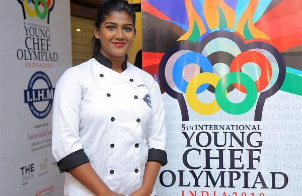 Madhumitha K P represented India in this year's Young Chef Olympiad (Pic: Madhumith K P)