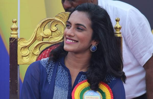 P V Sindhu at Velammal School, Chennai