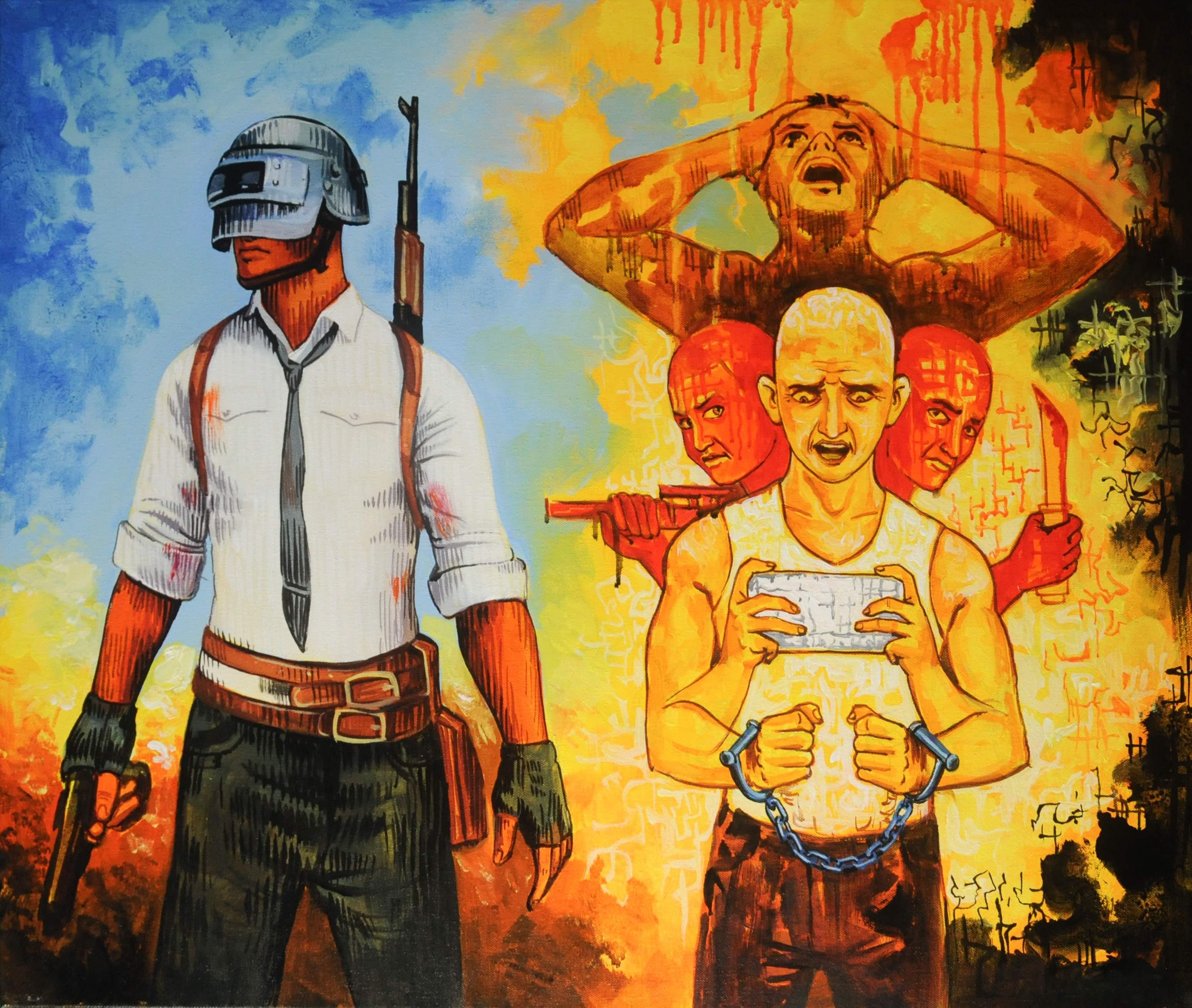 Anil Kumar's PUBG Painting