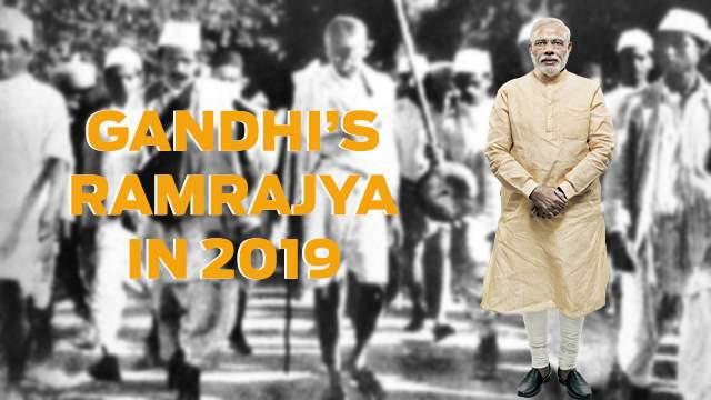 mahatma_gandhi_nARENDRA_MODI