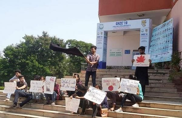 Jamia students protesting