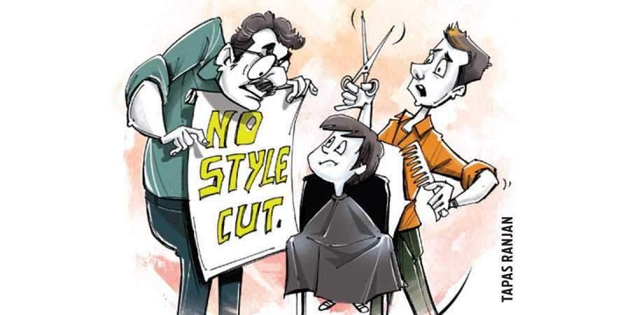 student haircut