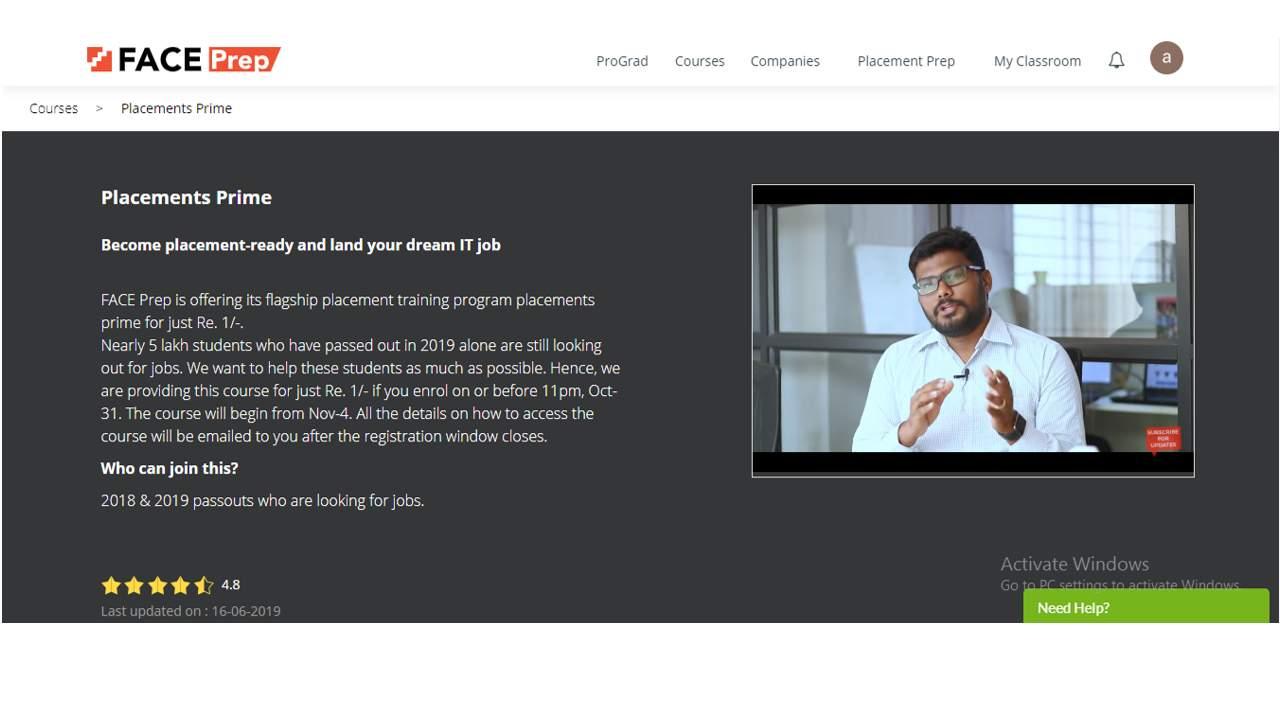 Faceprep website