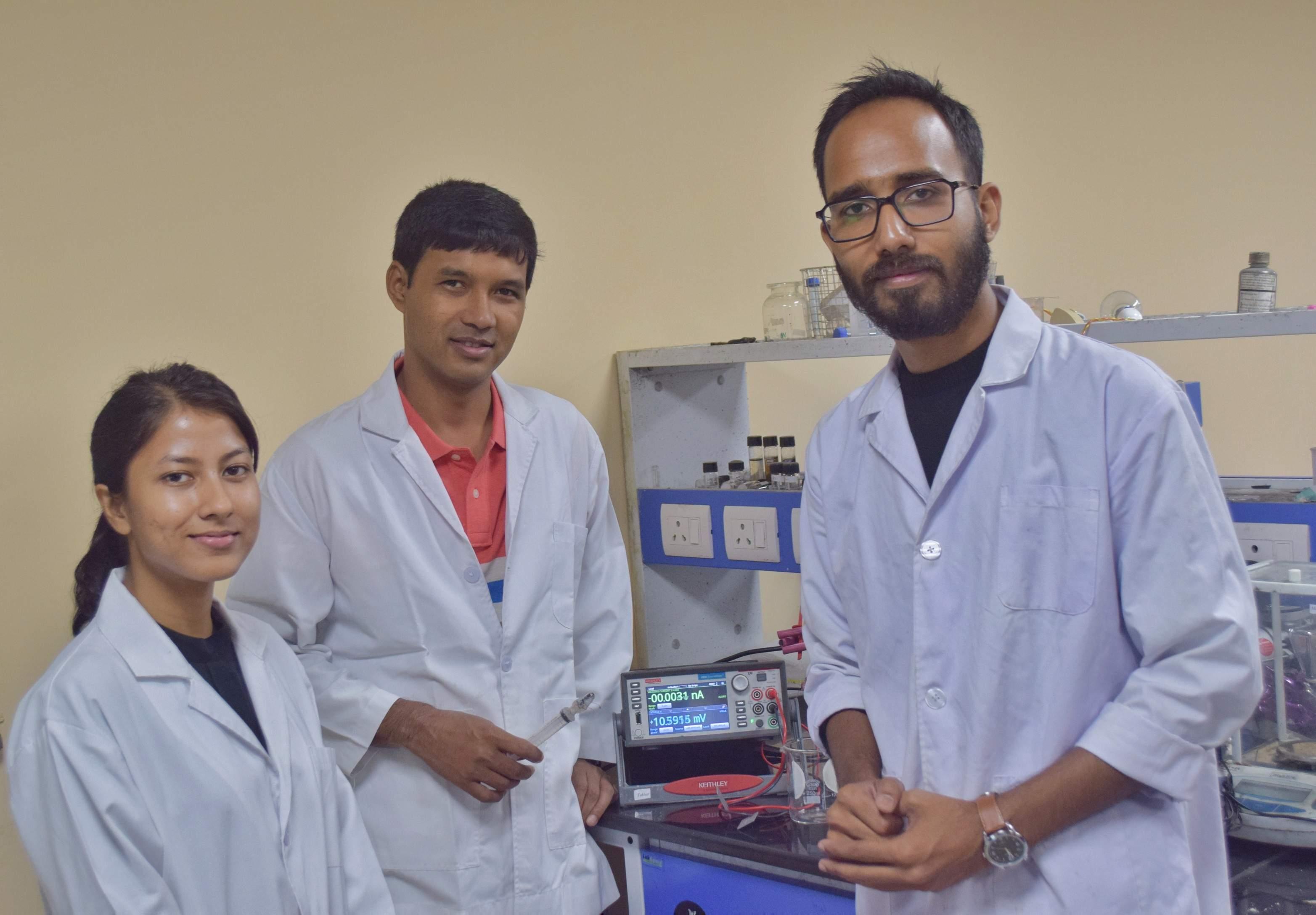 Jumi Deka, Dr Kalyan Raidongia and Kundan Saha, Department of Chemistry, IIT Guwahati