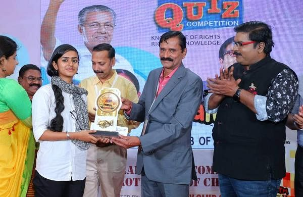 Aleena won first prize for Sanskrit elocution and Arabic recitation