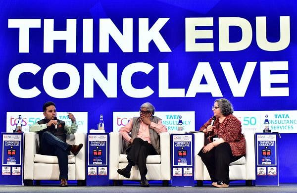 Amish Tripathi was in conversation with author and economist Bibek Debroy and senior journalist Kaveere Bamzai about whetherLessons from our Epics needed to be in our curriculum (Express/P Jawahar)