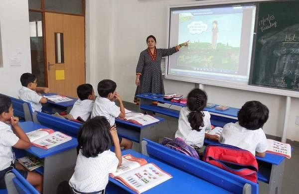 Private school teachers protest in Hyderabad
