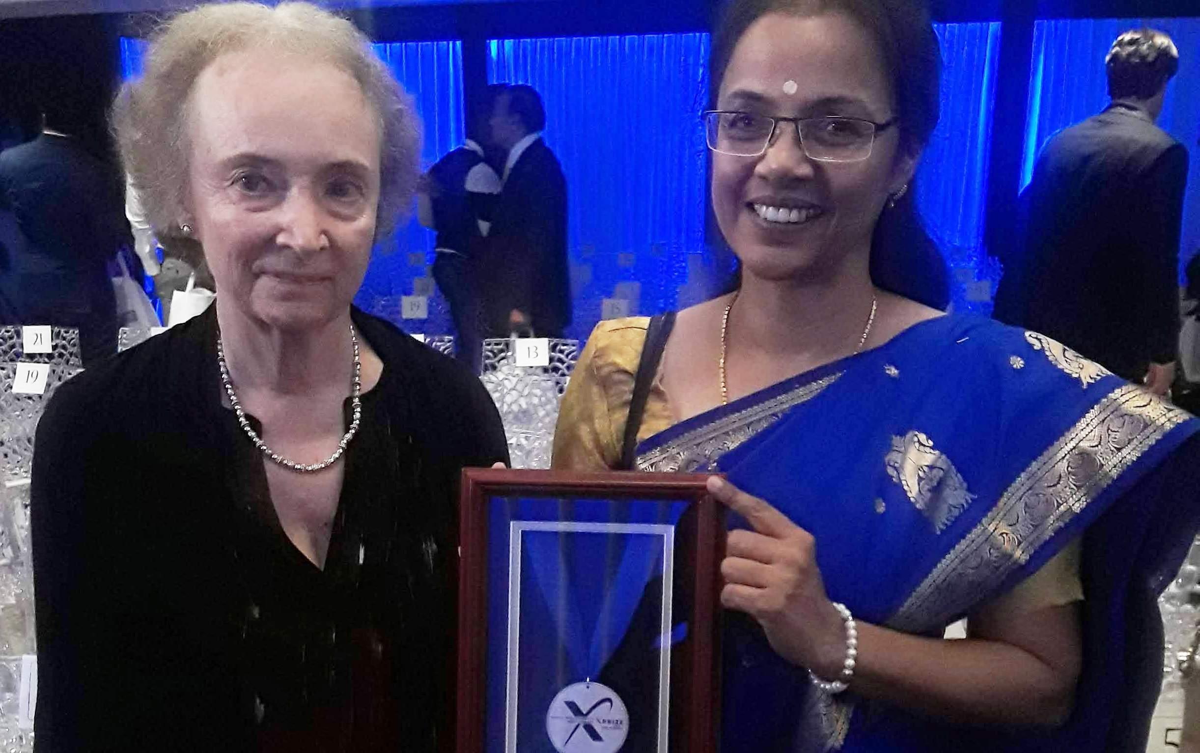 Rita Sutcliffe and Dr Prema Nedungadi