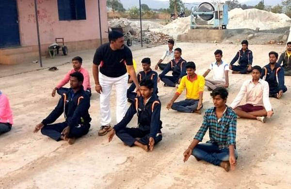 Mohammad Rafi training youngsters who wants to join Indian Armed Forces