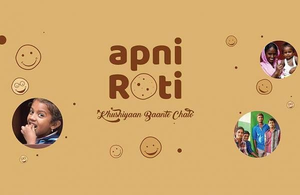 With its mobile van going from one place to another, Apni Roti is serving fresh and piping hot rotis with dollops of ghee, homemade pickle and sometimes even sweets (Pic: Apni Roti)