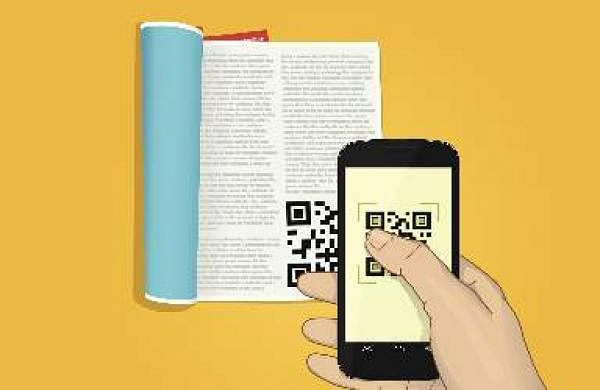 School textbooks QR codes