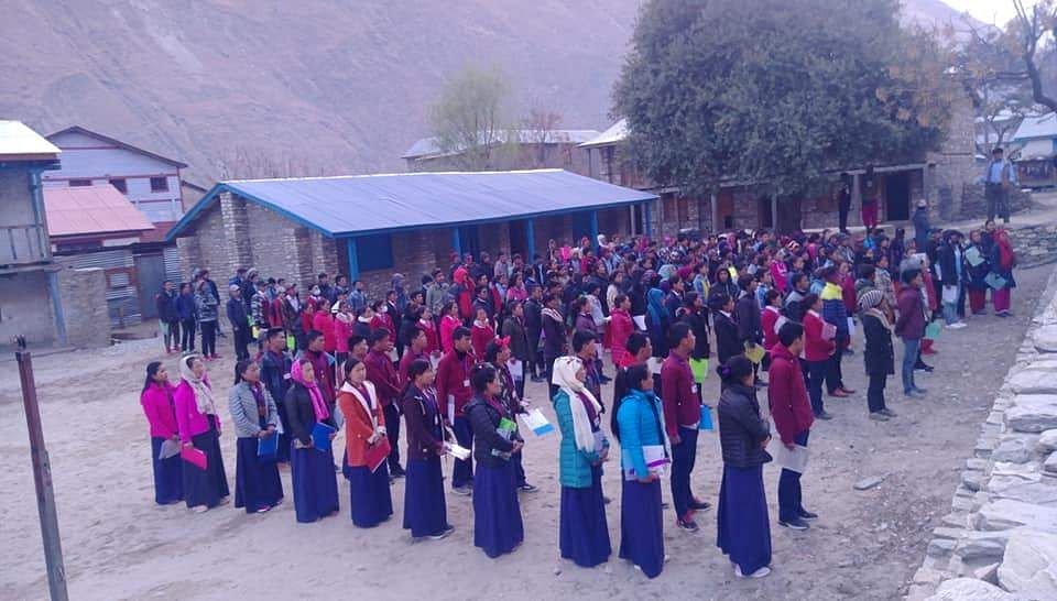 Nepal school students