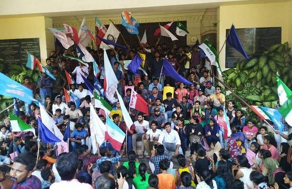 Pondicherry University students strike